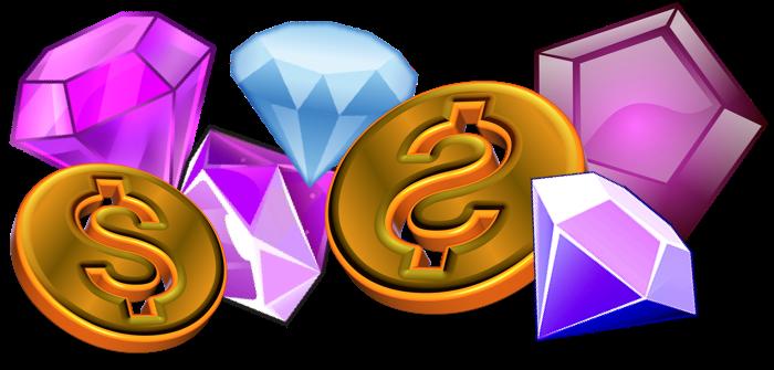 juveler och coins från free spins